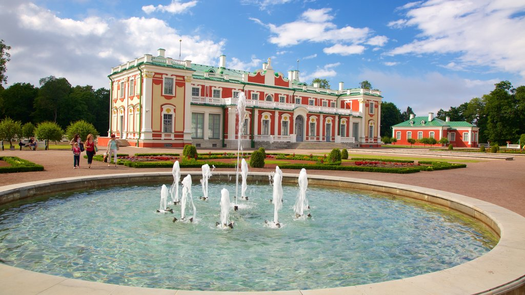 Kadriorg Palace which includes heritage architecture and a fountain