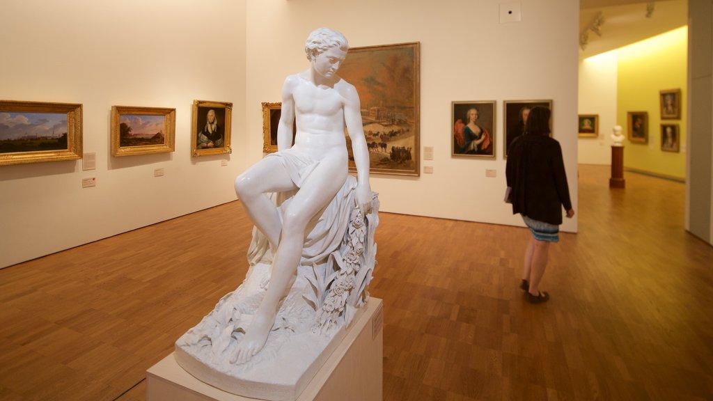 Kumu Art Museum featuring a statue or sculpture, art and interior views