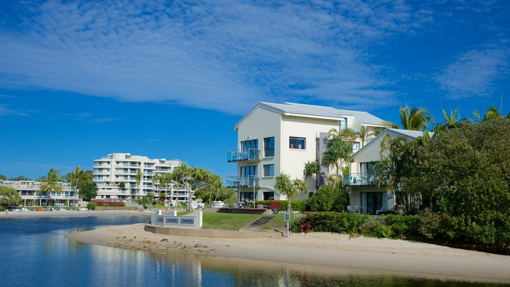 Noosaville which includes a house, a sandy beach and general coastal views