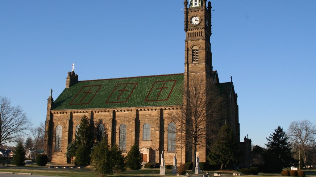Jasper which includes a church or cathedral, heritage architecture and religious elements