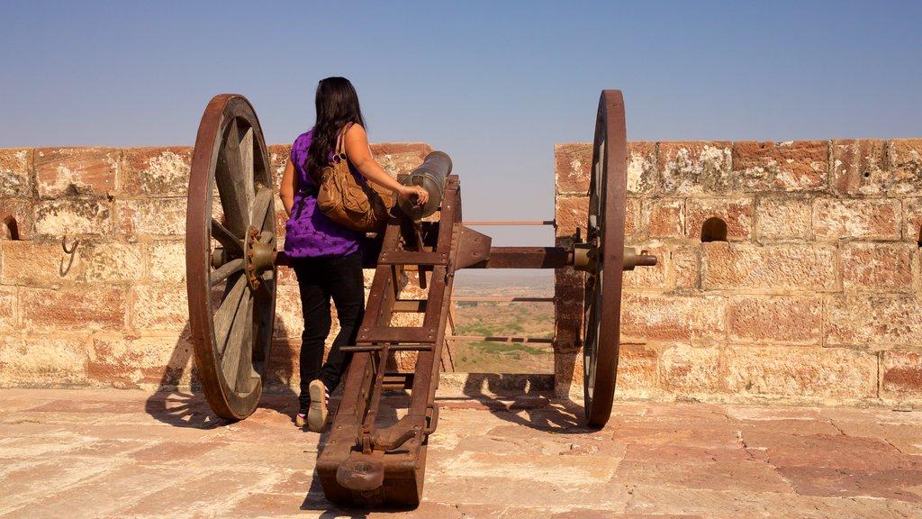Mehrangarh Fort featuring a ruin