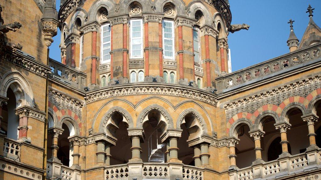 Chhatrapati Shivaji Terminus showing heritage architecture
