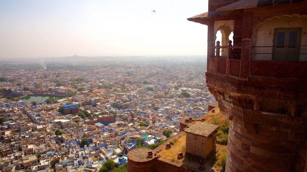 Mehrangarh Fort showing heritage elements and a city