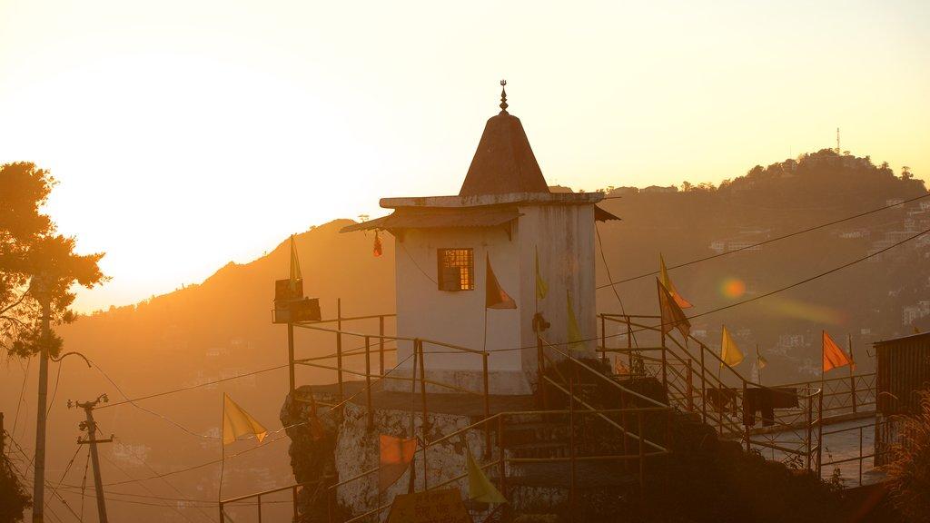 Gun Hill showing a sunset