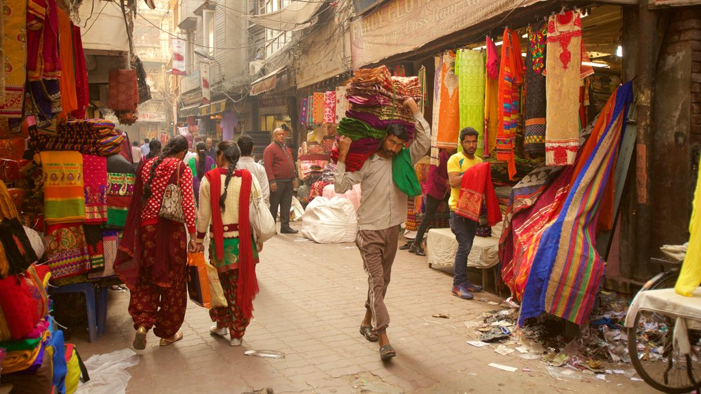 Katra Jaimal Singh Market which includes markets as well as a small group of people