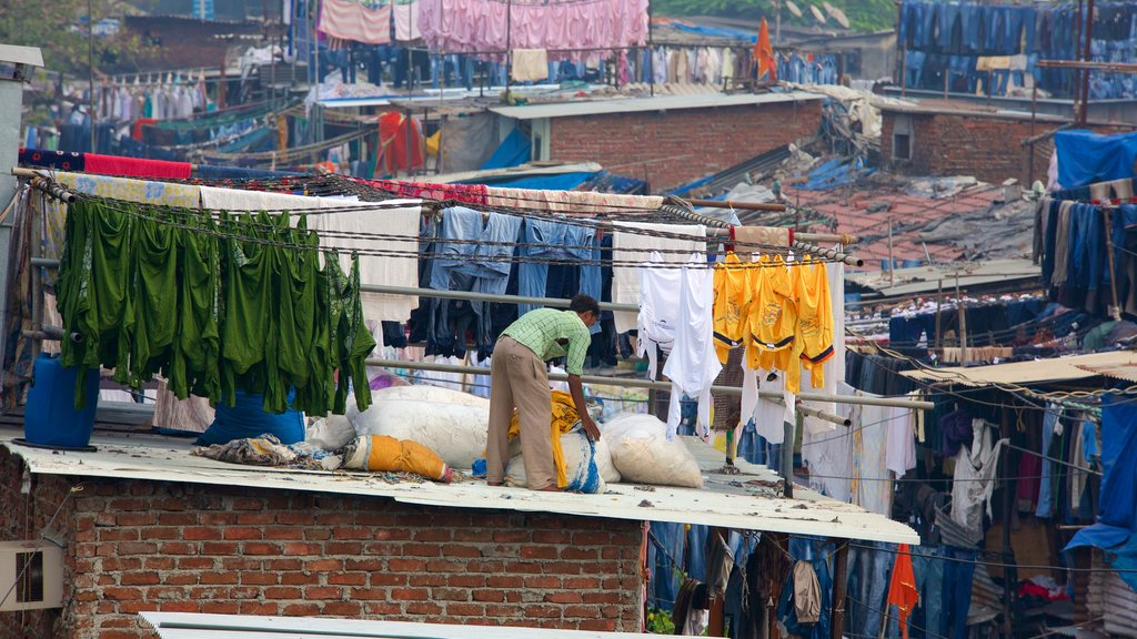 Dhobi Ghat showing a city