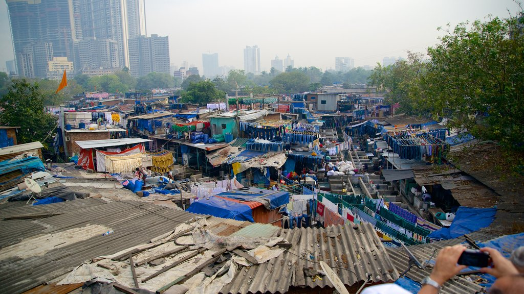 Dhobi Ghat featuring a city