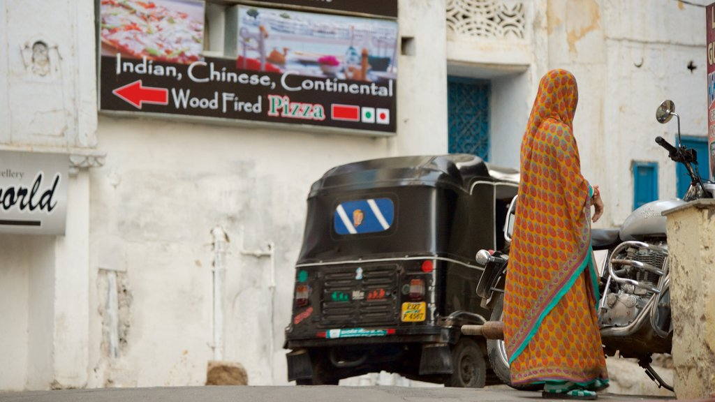 Udaipur featuring street scenes