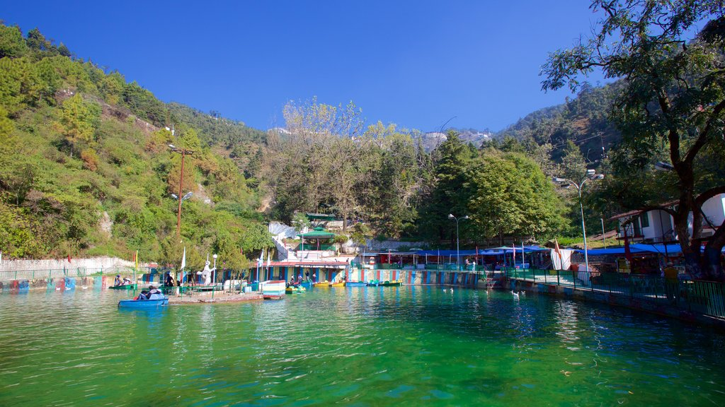 Mussoorie which includes a lake or waterhole