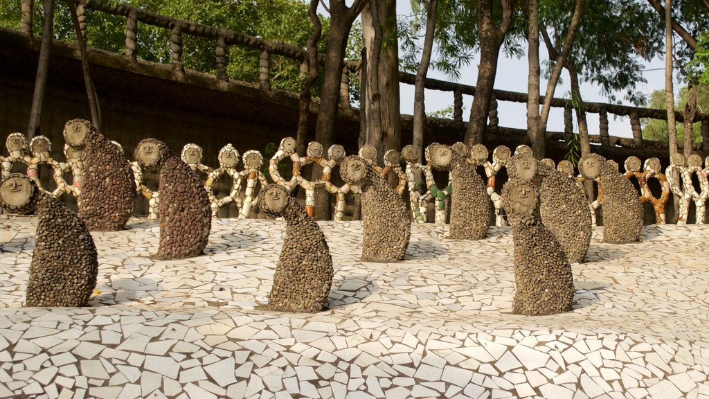Rock Garden featuring a statue or sculpture and outdoor art