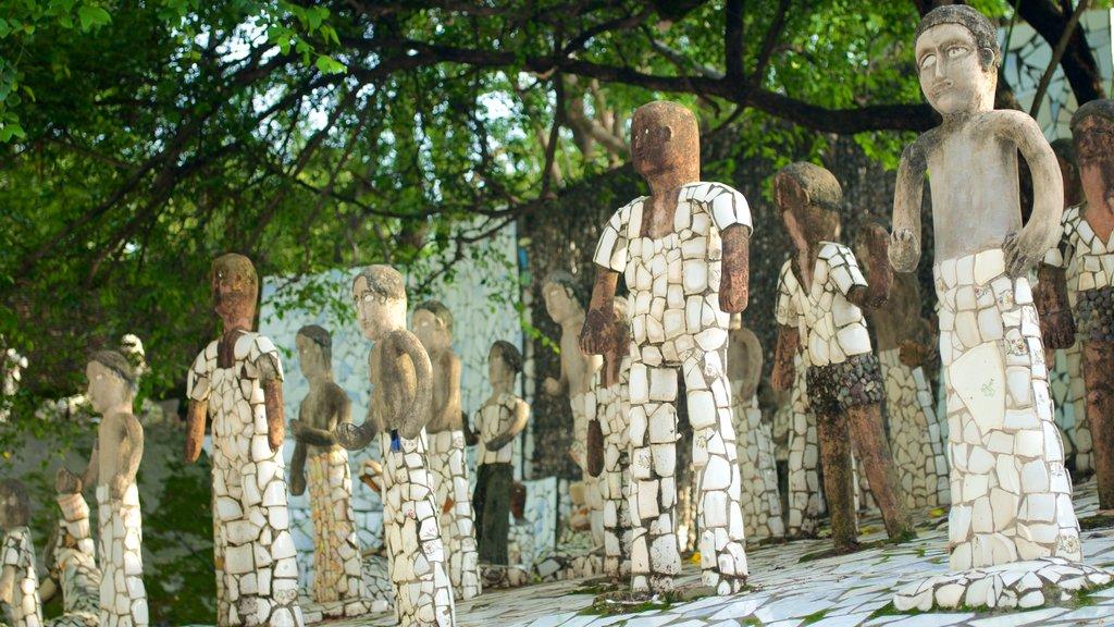 Rock Garden showing outdoor art and a statue or sculpture