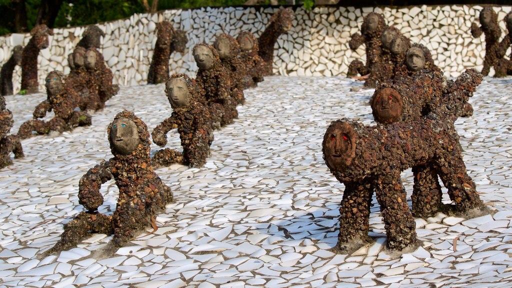 Rock Garden featuring outdoor art and a statue or sculpture