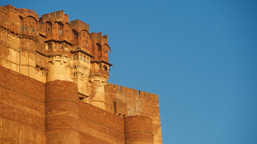 Mehrangarh Fort showing heritage architecture and heritage elements