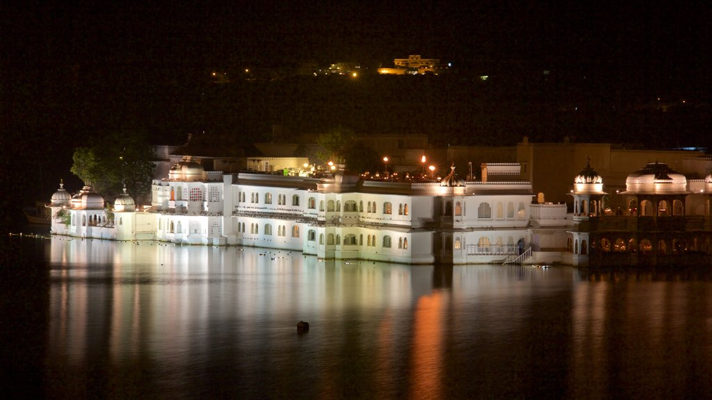 Lake Palace featuring night scenes and a lake or waterhole