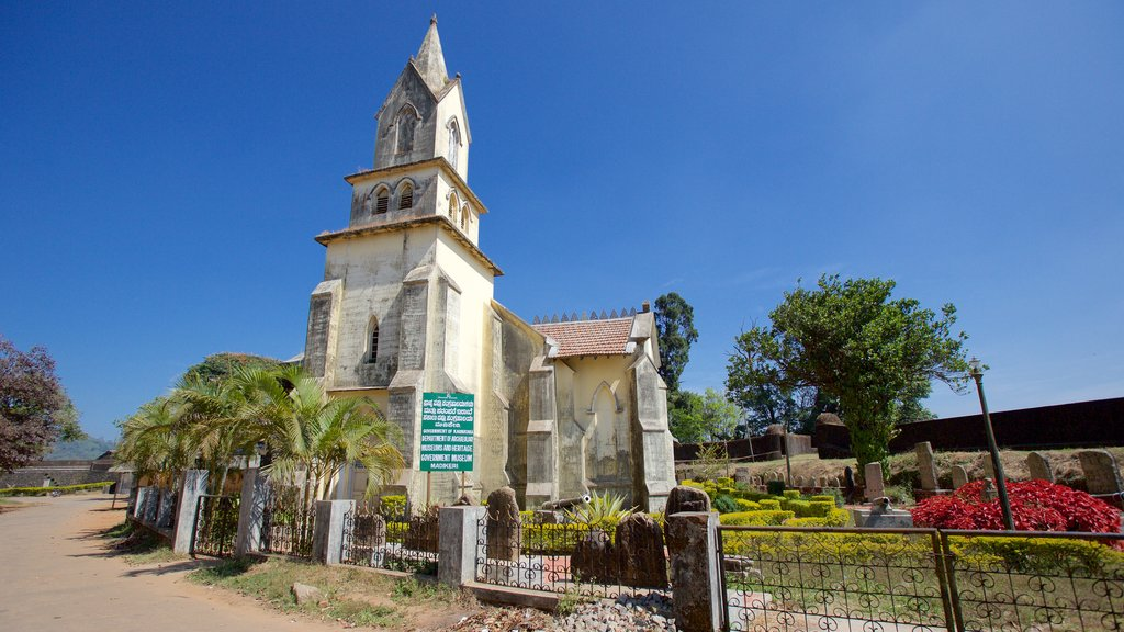 Madikeri Fort featuring heritage elements and a church or cathedral