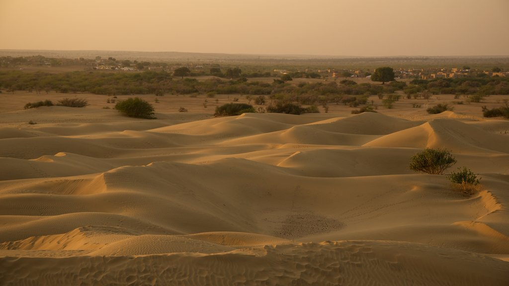 Khuri Sand Dunes featuring desert views and tranquil scenes