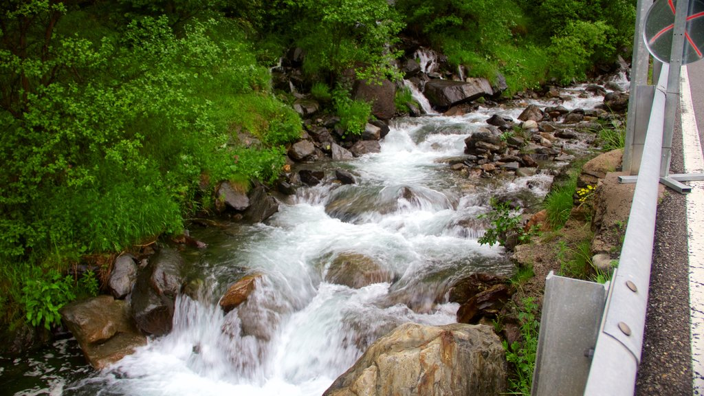Arinsal featuring a river or creek and a waterfall