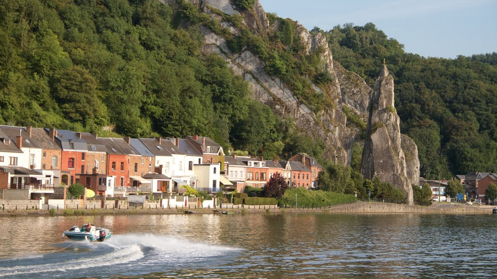 Dinant which includes boating, mountains and tranquil scenes