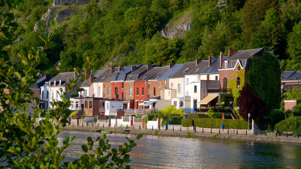 Dinant featuring a lake or waterhole and heritage architecture