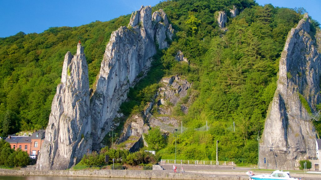 Dinant which includes mountains