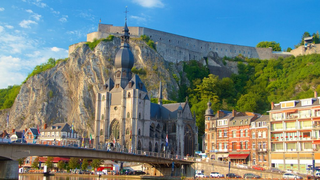 Dinant featuring heritage architecture, heritage elements and a church or cathedral