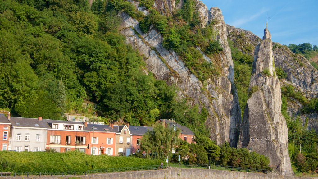 Dinant featuring a small town or village and mountains