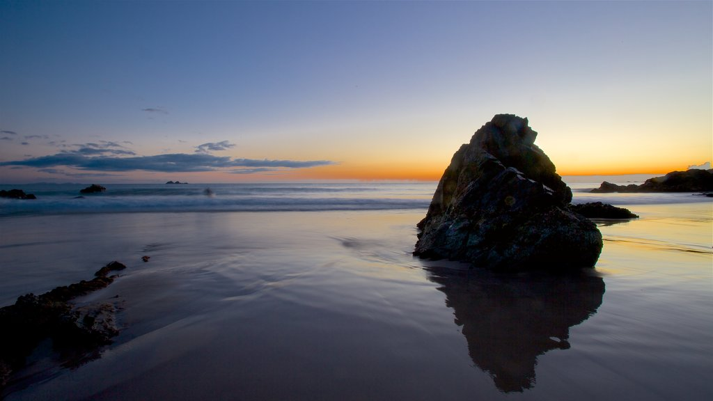 Byron Bay which includes landscape views, general coastal views and a sandy beach