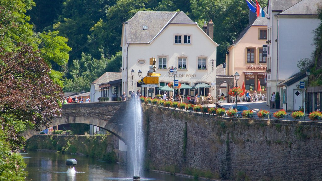 Vianden featuring a city, a small town or village and a pond