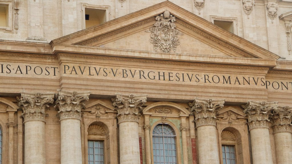 Rome which includes heritage architecture and signage