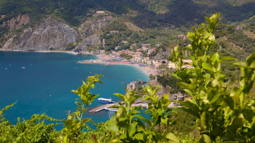 Monterosso al Mare which includes a beach, general coastal views and a coastal town