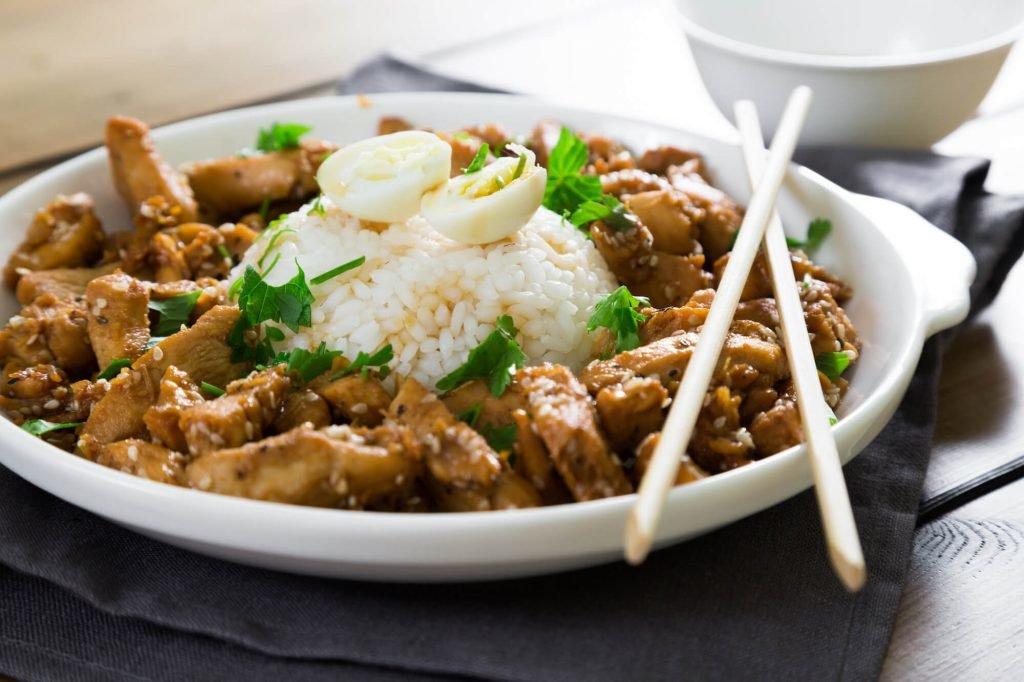 poulet et riz japonais