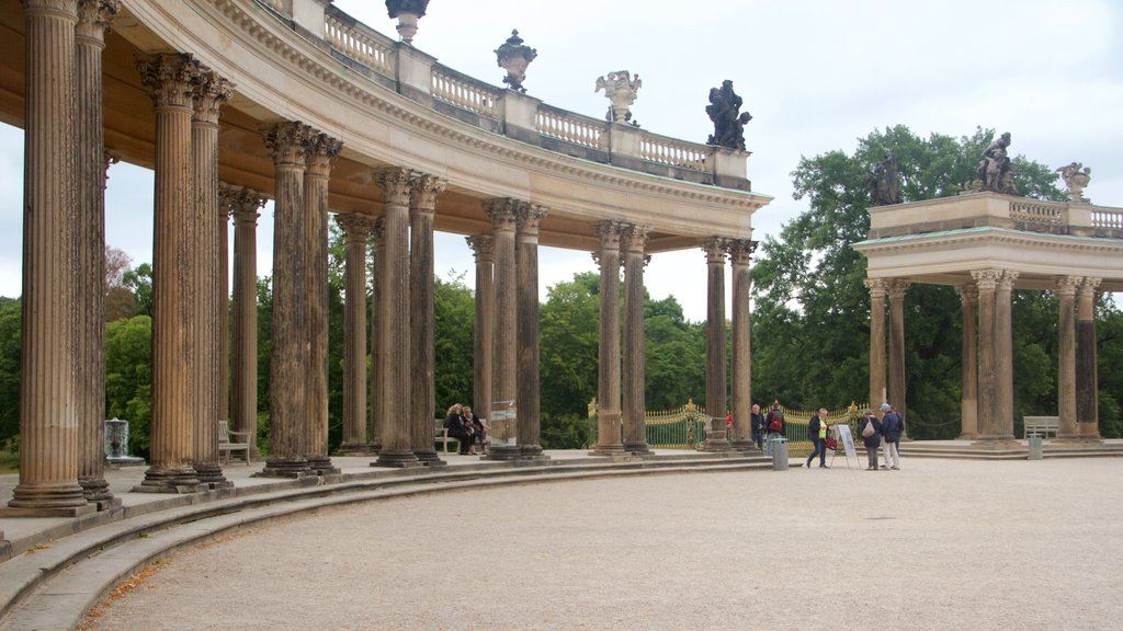 Sanssouci Palace which includes heritage architecture, a square or plaza and heritage elements