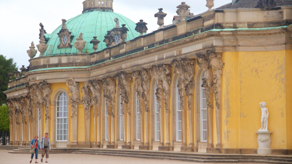Sanssouci Palace showing chateau or palace, heritage architecture and heritage elements