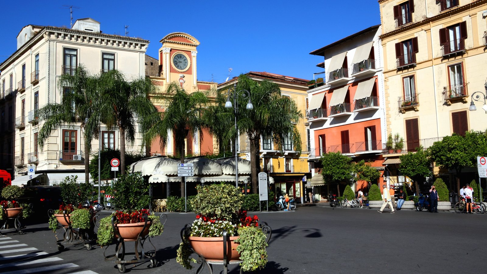 Sorrento featuring a square or plaza, city views and a city