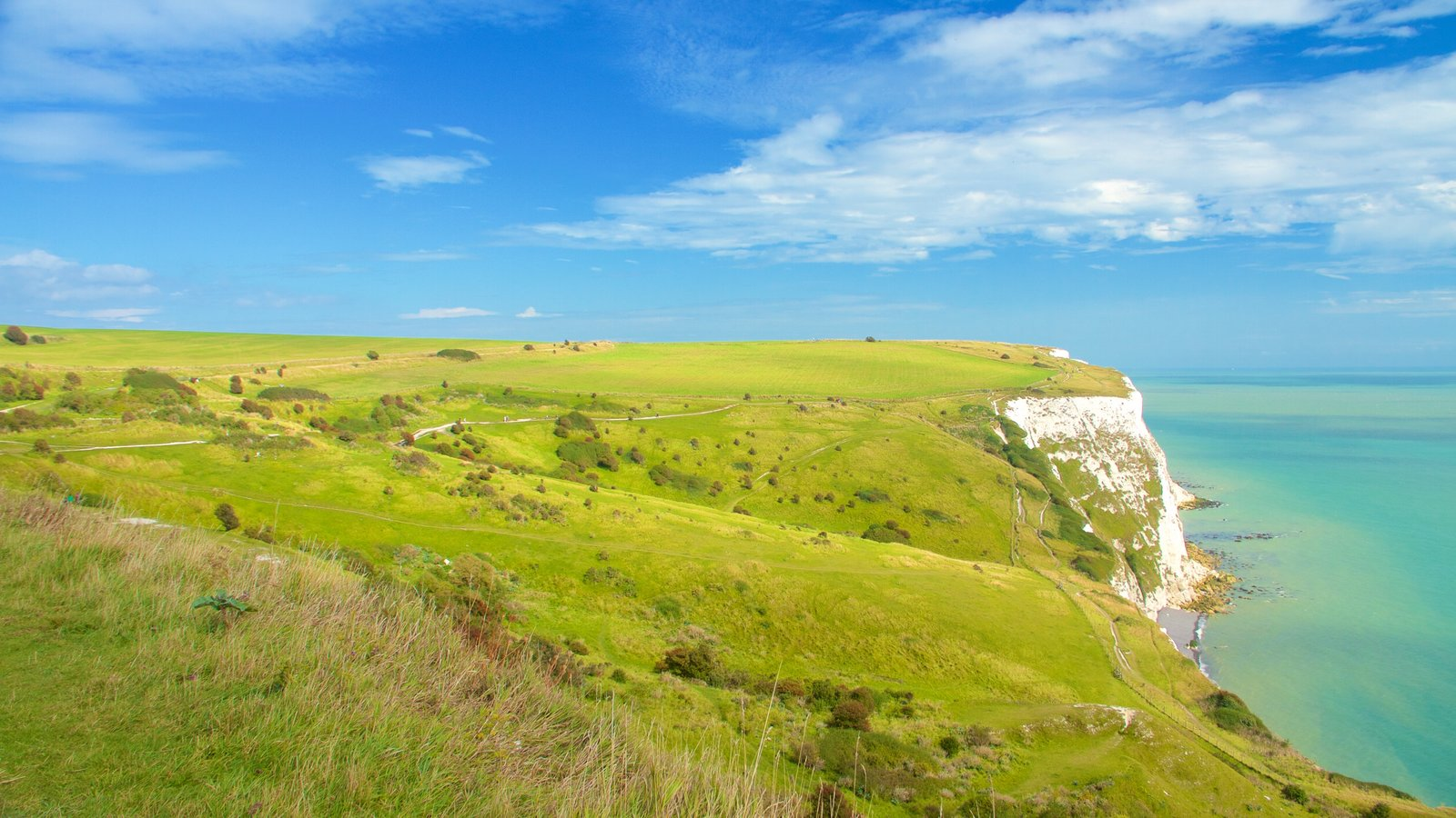 Dover which includes tranquil scenes, landscape views and rugged coastline