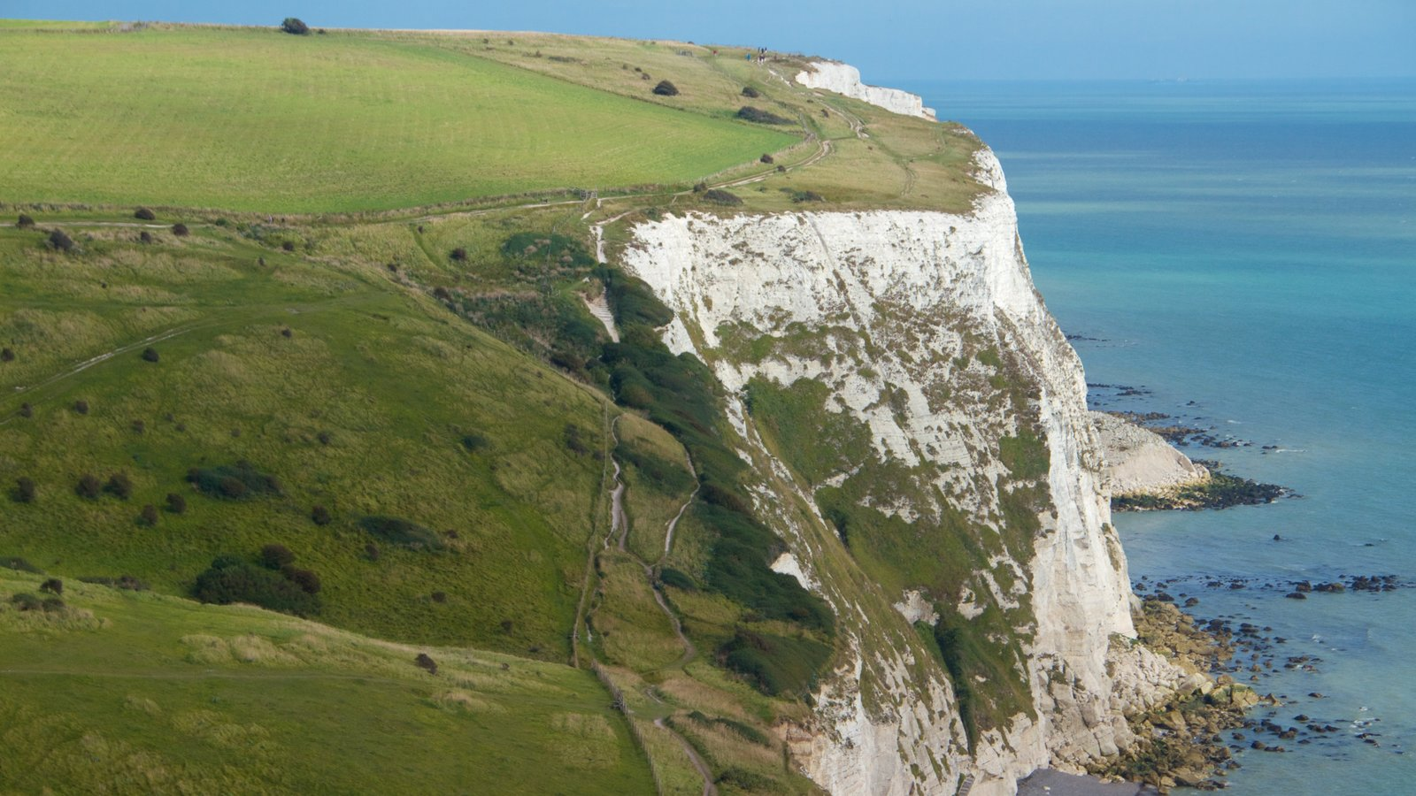 White Cliffs of Dover featuring general coastal views, tranquil scenes and rugged coastline