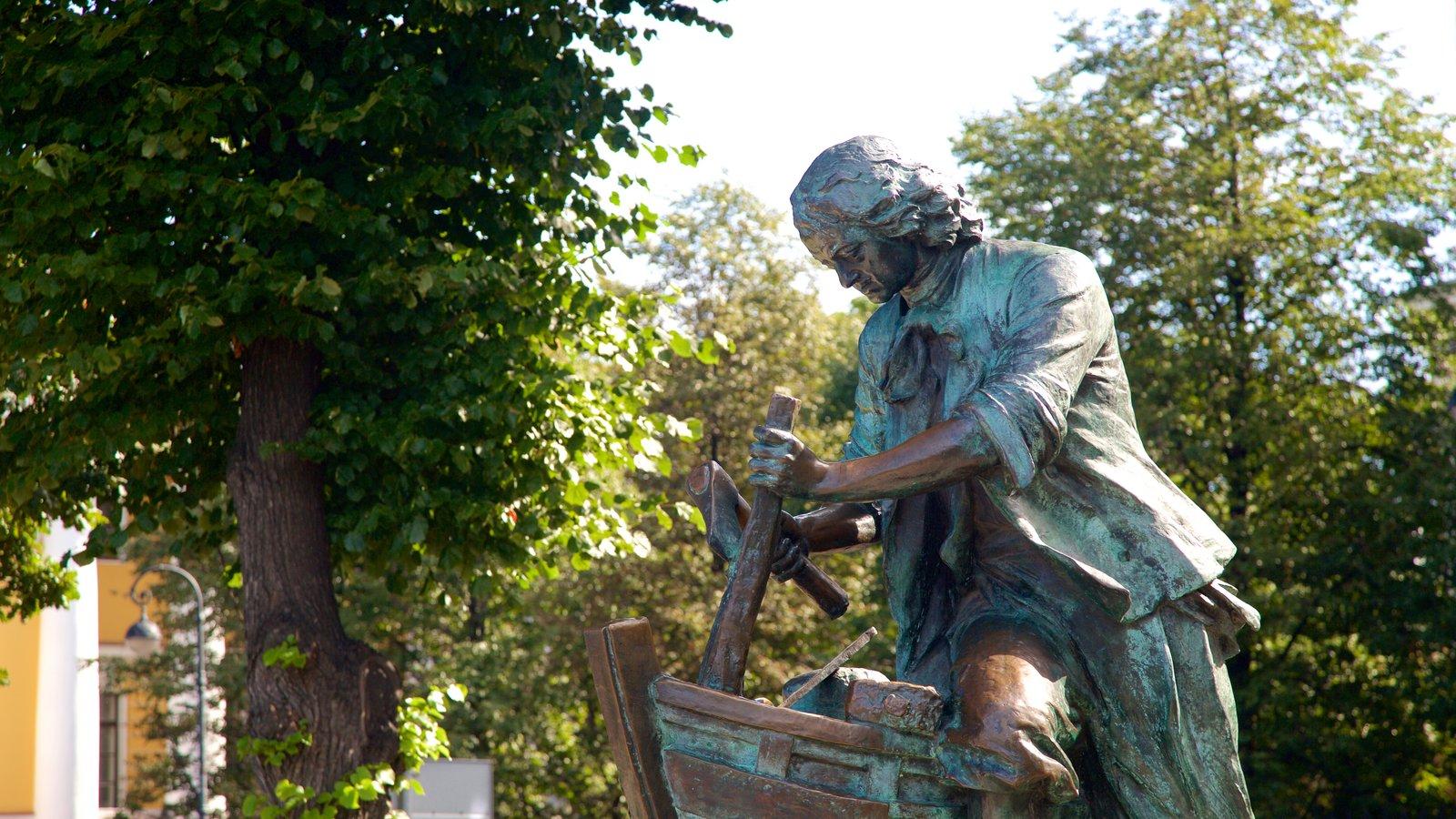 Cais do Almirante caracterizando uma estátua ou escultura