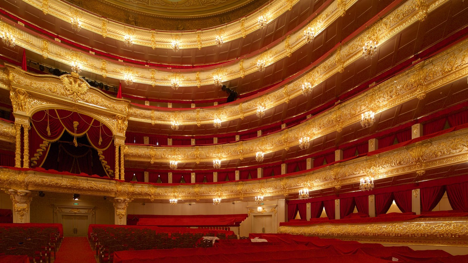 Teatro Bolshoi mostrando arquitetura de patrimônio, cenas de teatro e vistas internas