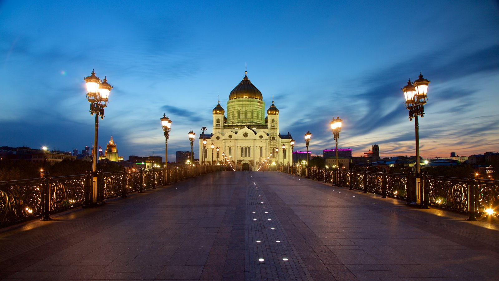 Cathedral of Christ the Savior which includes night scenes and heritage architecture