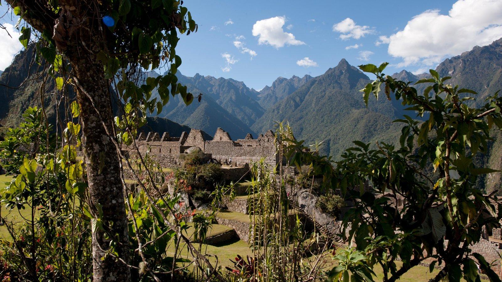 Huayna Picchu mostrando elementos de patrimônio, paisagem e montanhas