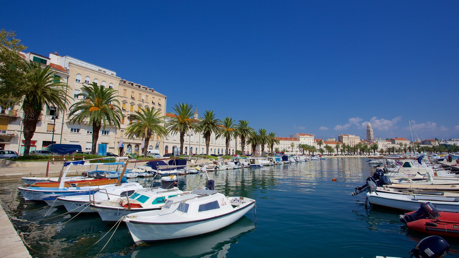 Split Riva showing a marina