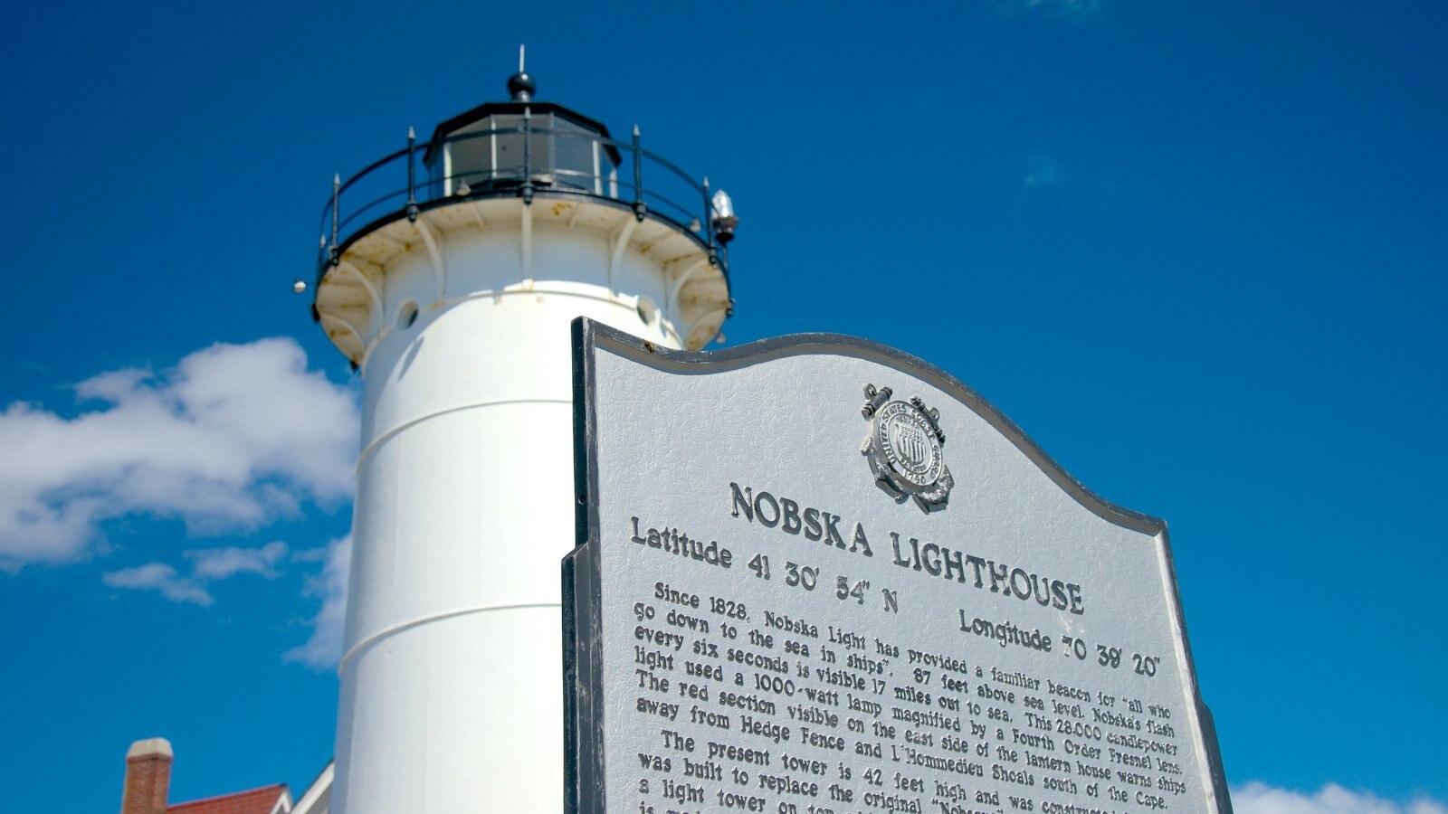 Nobska Lighthouse caracterizando um farol e sinalização