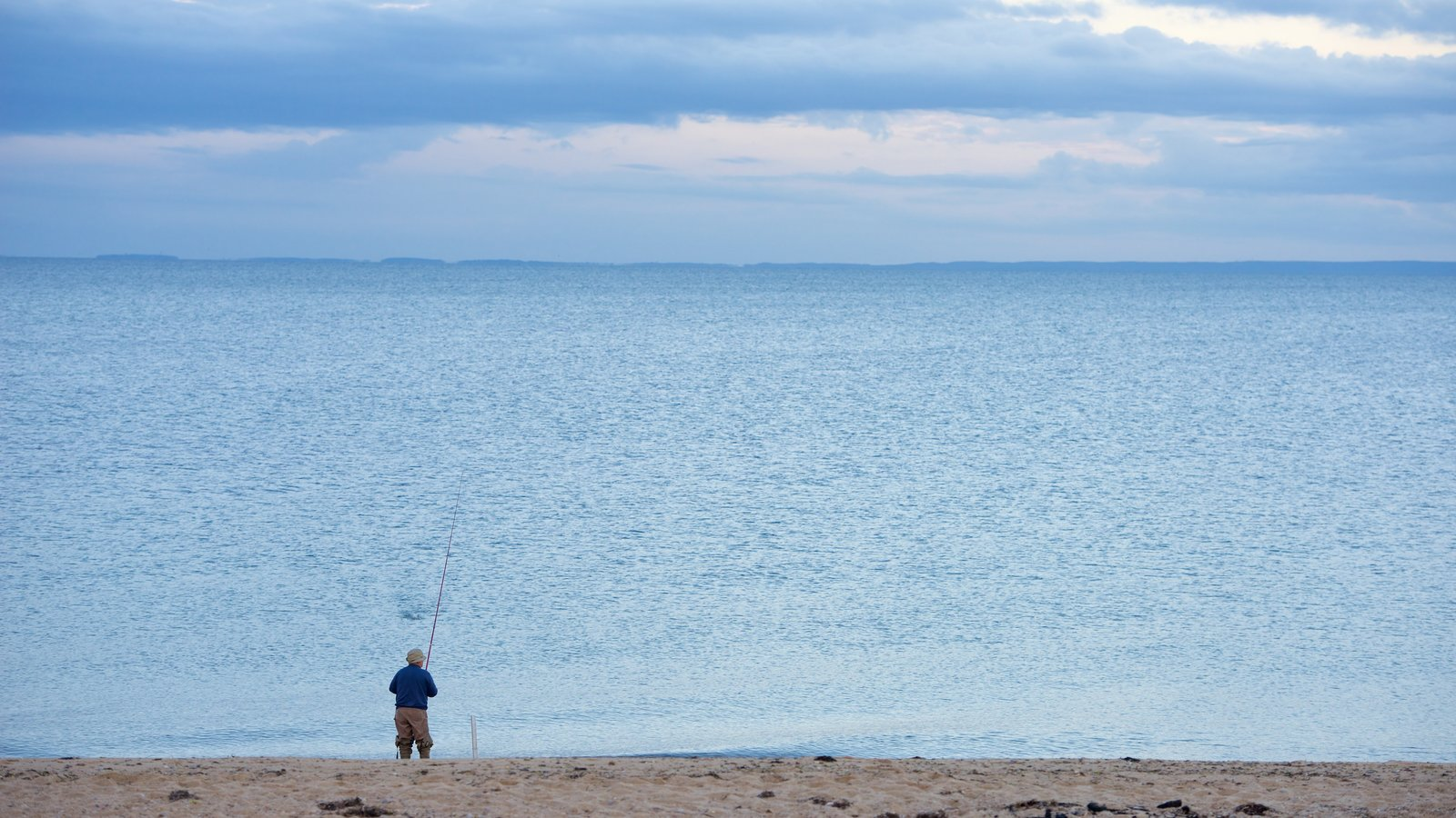 Herring Cove Beach showing a beach and fishing as well as an individual male