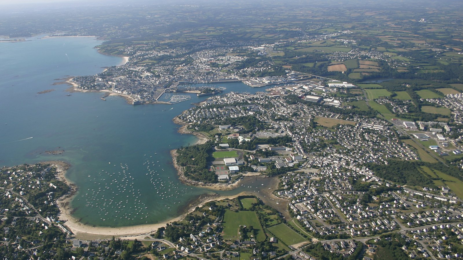 Quimper - Southern Finistere featuring a bay or harbor and a city