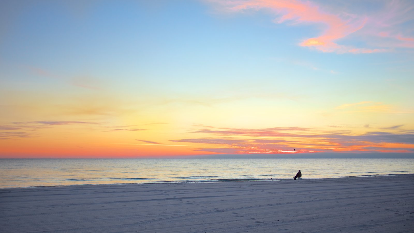 Panama City featuring a beach and a sunset