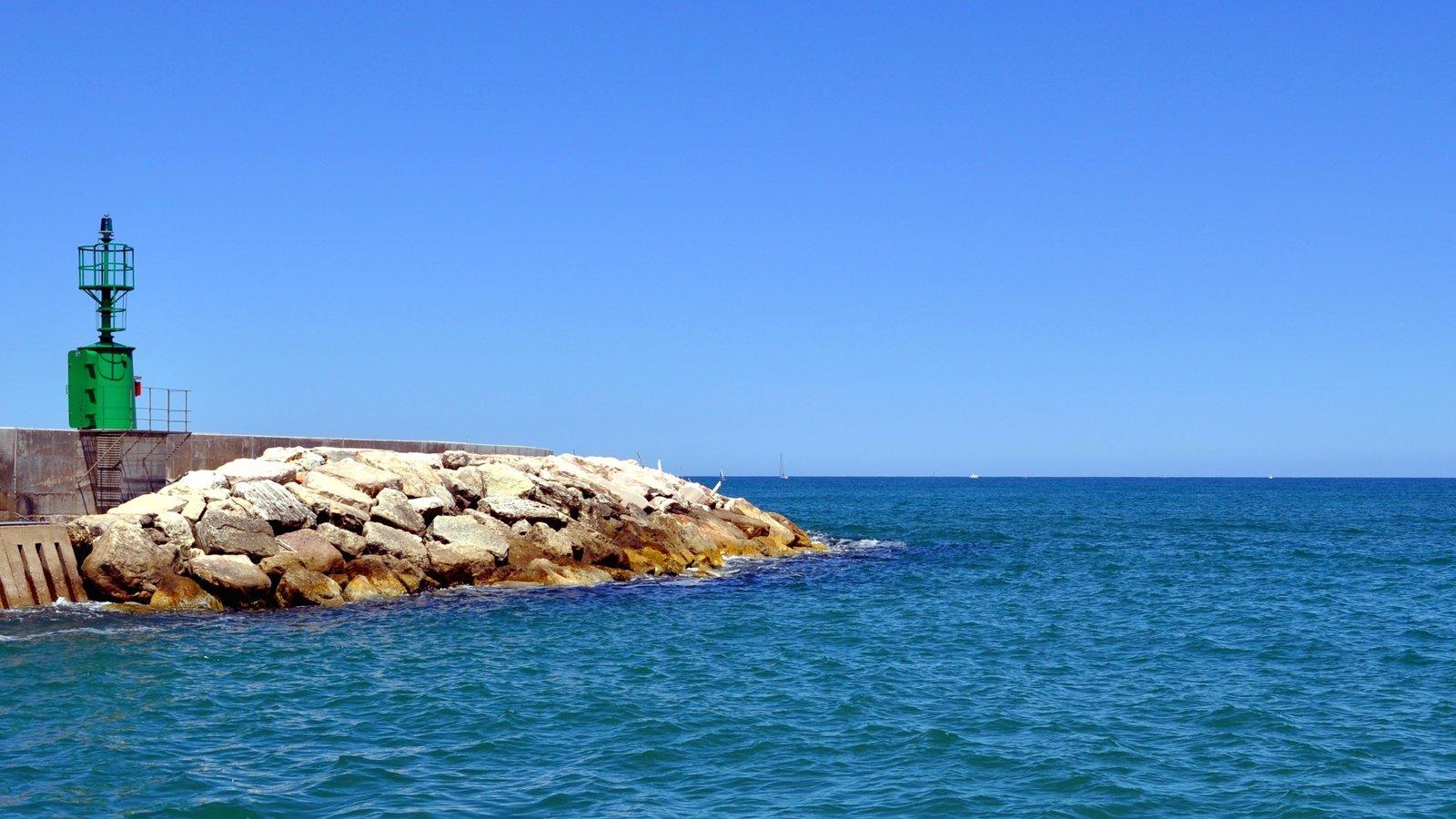 Senigallia which includes rocky coastline