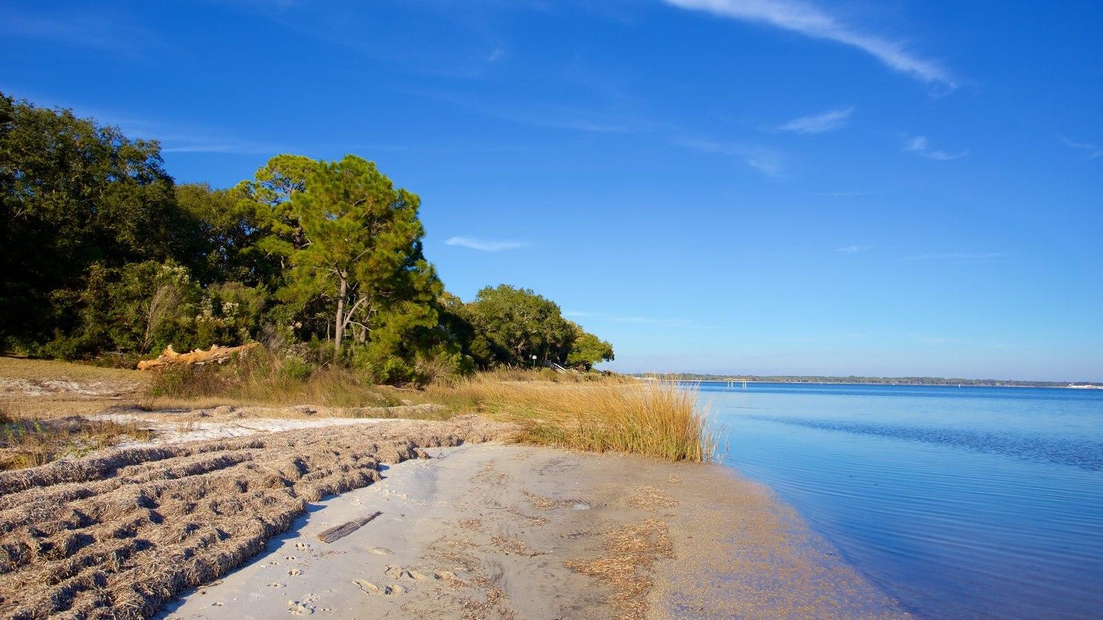 Upper Grand Lagoon que inclui florestas e uma praia