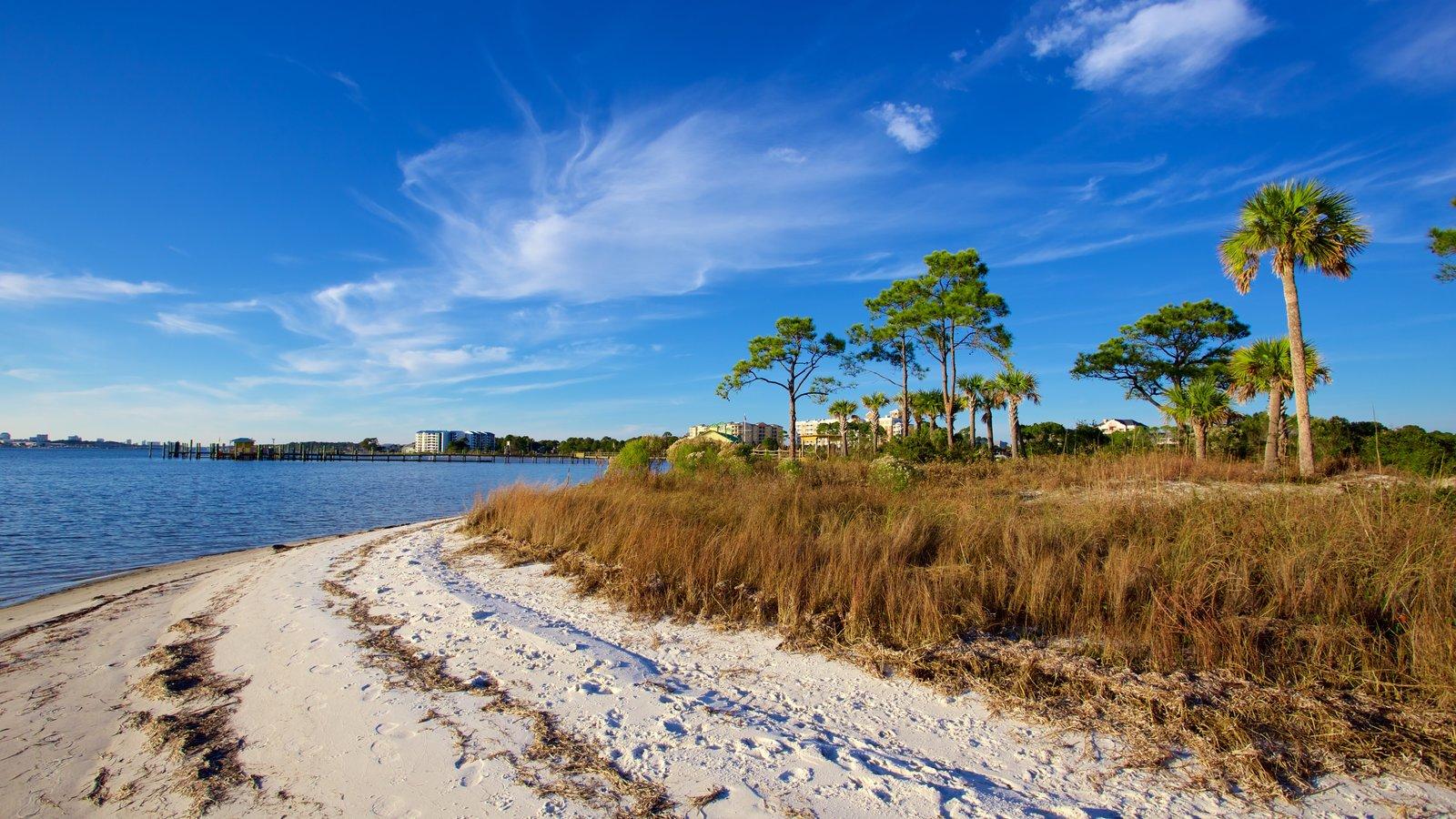 Upper Grand Lagoon que inclui cenas tranquilas, uma praia e um lago ou charco