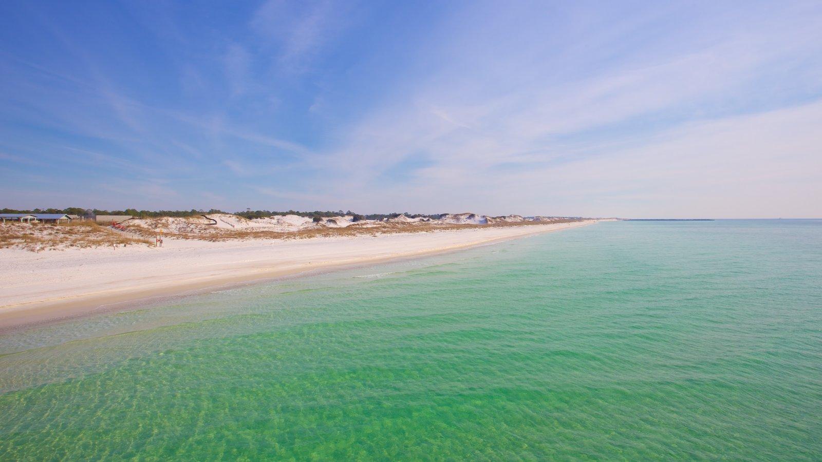 St. Andrews State Park caracterizando uma praia de areia