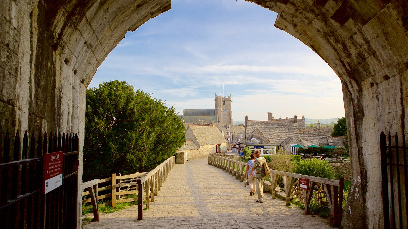 Corfe Castle which includes heritage elements as well as a couple